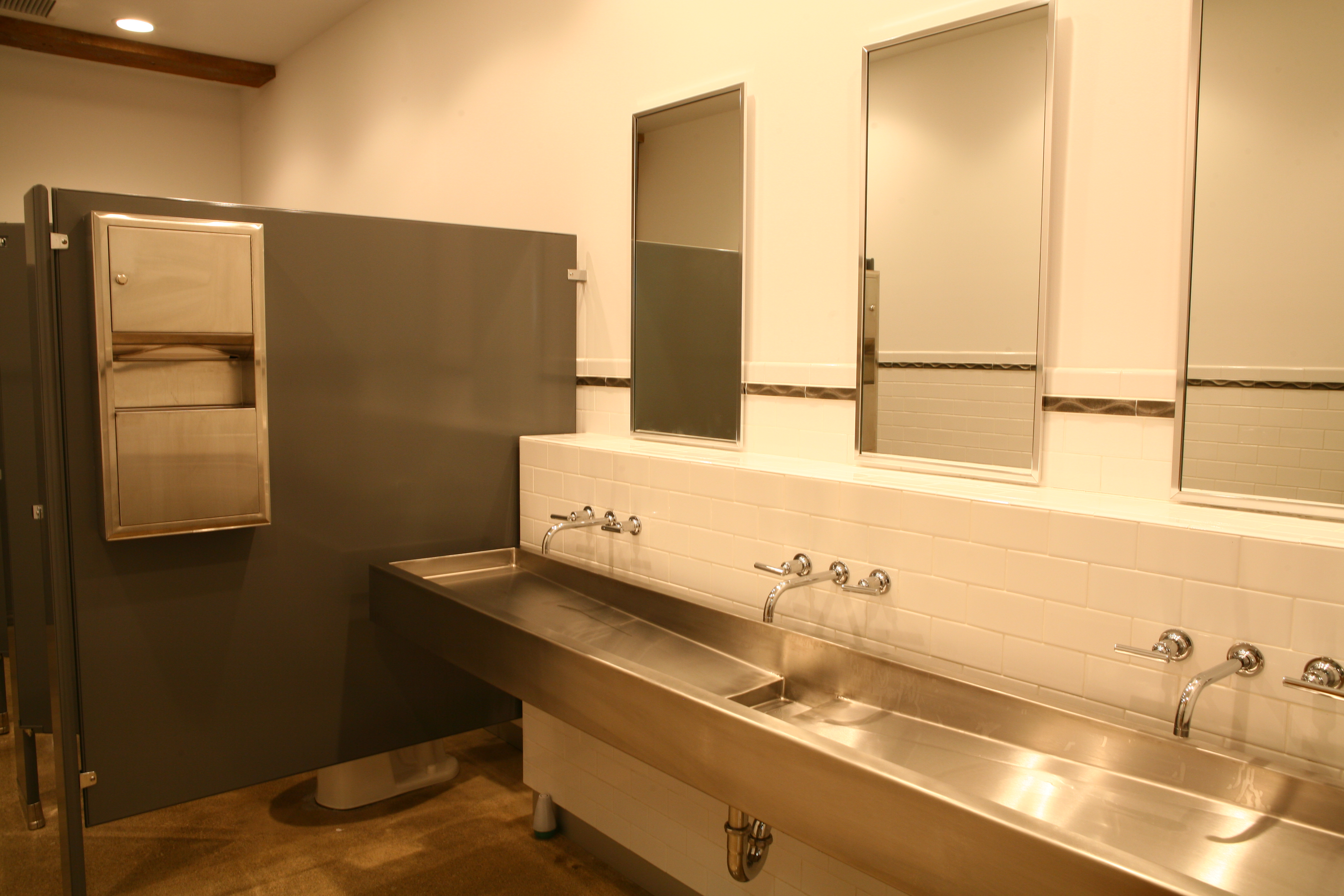 Commercial bathroom sink the image kid for Bathroom ideas industrial