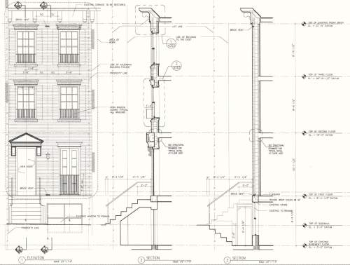 Upper eastside townhouse john m reimnitz architect pc for Row house front elevation
