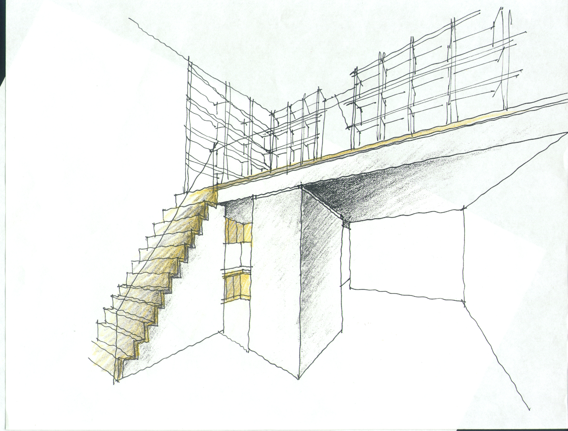Design Sketch For Stairs Mezzanine John M Reimnitz